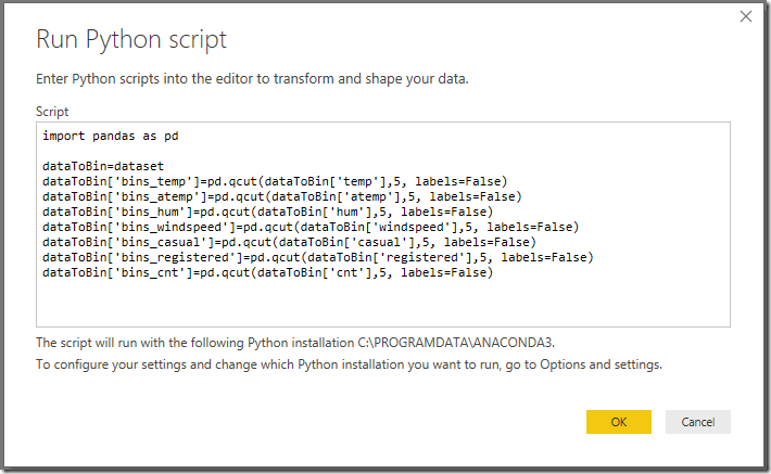 Python + Power BI Example – Binning variables with ease – Mohammad